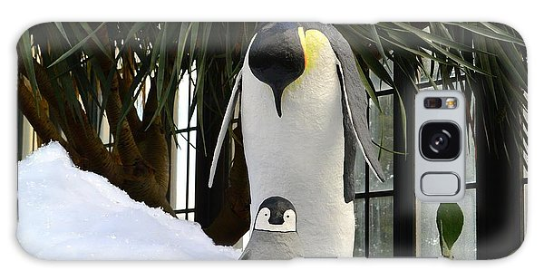 Mother Penguin And Baby Galaxy Case by Jeannie Rhode