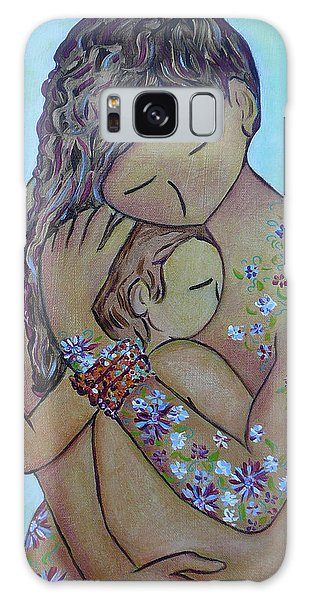 Motherhood Flowers All Over Galaxy Case by Gioia Albano