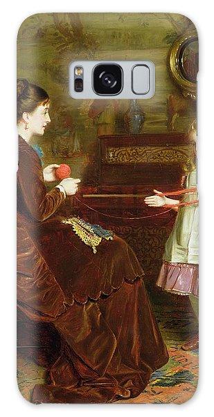Tapestry Galaxy Case - Mothers Little Helper by George Goodwin Kilburne