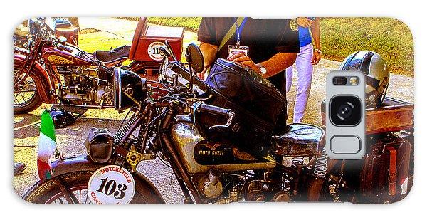 Moto Guzzi At Cannonball Motorcycle Galaxy Case by Jeff Kurtz