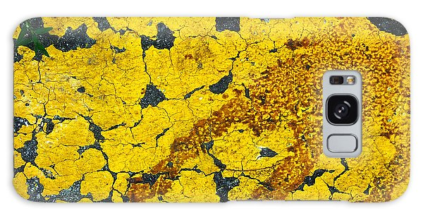 Motor Oil On Yellow Galaxy Case by Robert Knight