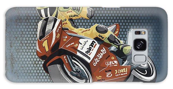 Sportsman Galaxy Case - Motorbike Racing Grunge Color by Frank Ramspott
