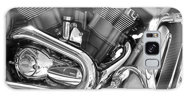 Motorcycle Close-up Bw 1 Galaxy Case