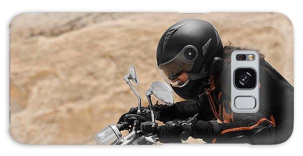 Motorcyclist In A Desert Galaxy Case