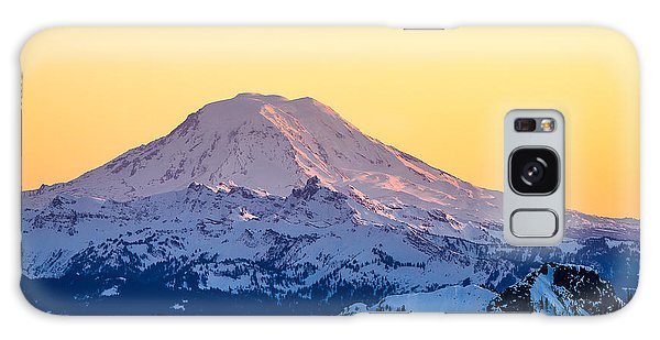 Mount Adams Sunset Galaxy Case