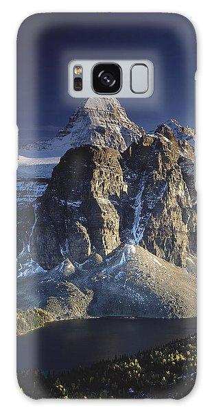 Mount Assiniboine And Sunburst Lake Galaxy Case