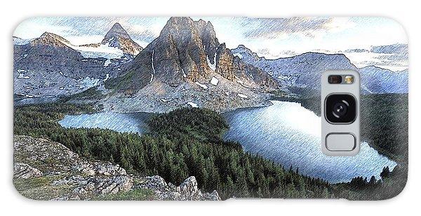 Mount Assiniboine In Pencil Galaxy Case