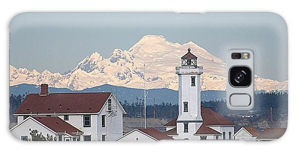Mount Baker And Point Wilson Light Station Galaxy Case