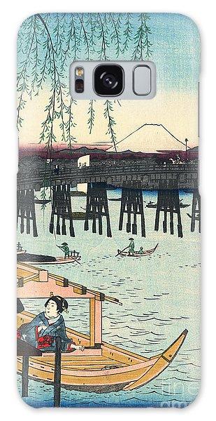 Mount Fuji From Ryogoku 1858 Galaxy Case by Padre Art