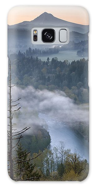 Mount Hood And Sandy River At Sunrise Galaxy Case by Jit Lim