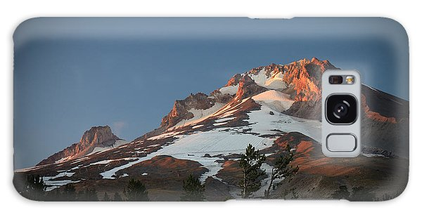 Mount Hood Summit In Warm Glow Galaxy Case