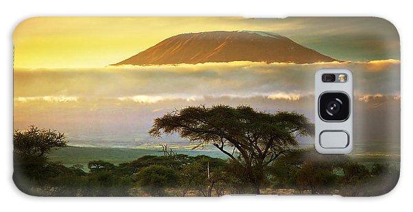 Mount Kilimanjaro Savanna In Amboseli Kenya Galaxy Case