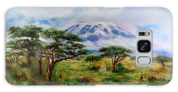 Mount Kilimanjaro Tanzania Galaxy Case by Sher Nasser
