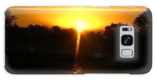 Mount Lassen Sunrise Gold Galaxy Case by Joyce Dickens