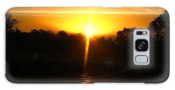 Mount Lassen Sunrise Gold Galaxy Case