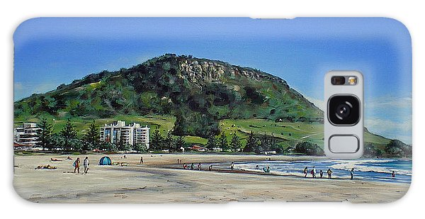 Mount Maunganui Beach 151209 Galaxy Case