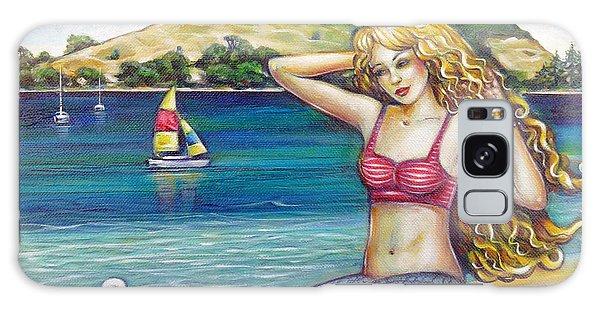 Mount Maunganui Beach Mermaid 160313 Galaxy Case