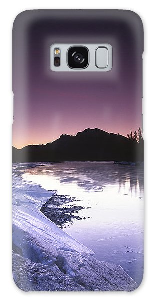 Mount Mcgillvary Silhouetted Behind An Icy Bow River Galaxy Case
