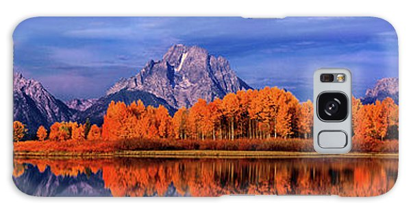 Mount Moran And Fall Color Grand Tetons Galaxy Case by Dave Welling