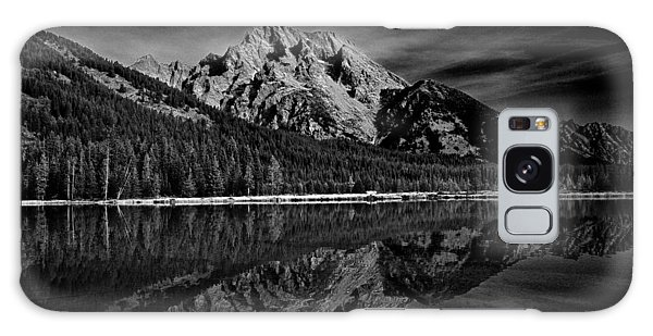 Mount Moran In Black And White Galaxy Case