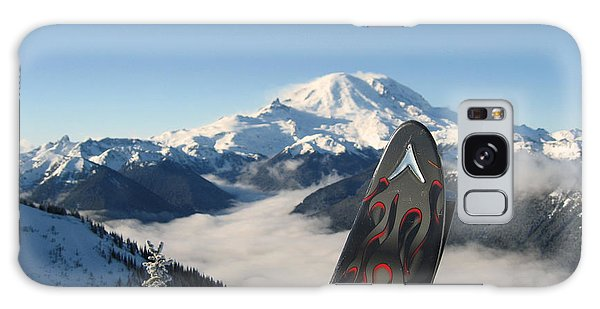 Mount Rainier Has Skis Galaxy Case