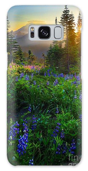 Flora Galaxy Case - Mount Rainier Sunburst by Inge Johnsson