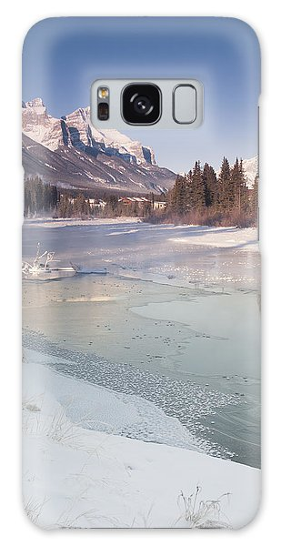 Mount Rundle And Creek In Winter  Galaxy Case