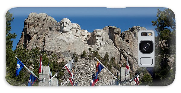 Mount Rushmore Avenue Of Flags Galaxy Case