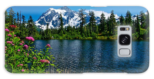 Mount Shuksan And Highwood Lake Galaxy Case