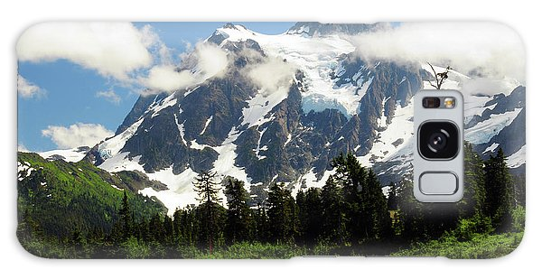 White Mountain National Forest Galaxy Case - Mount Shuksan From Picture Lake, Mount by Michel Hersen
