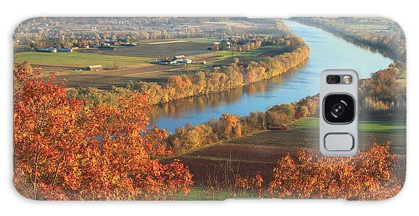 Mount Sugarloaf Connecticut River Autumn Galaxy Case by John Burk