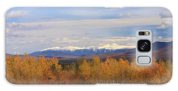 Mount Washington And Presidential Range Snow Foliage Galaxy Case by John Burk