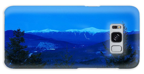 Mount Washington And The Presidential Range At Twilight From Mount Sugarloaf Galaxy Case by John Burk