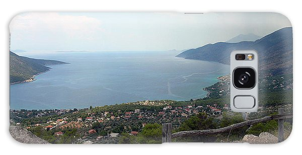 Mountain And Sea View In Greece Galaxy Case