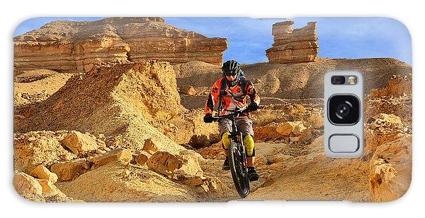 Mountain Biker In A Desert Galaxy Case