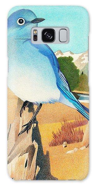 Mountain Bluebird Galaxy Case