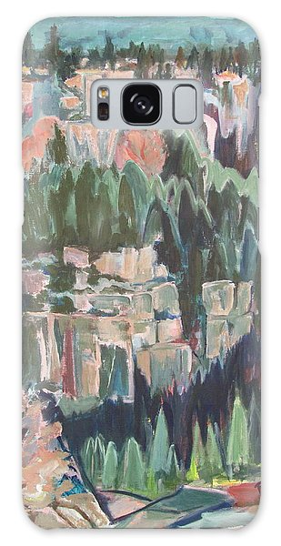 Mountain Cathedral Galaxy Case by Betty Pieper