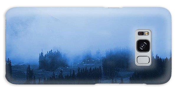 Mountain Clouding Over Galaxy Case by Amanda Holmes Tzafrir