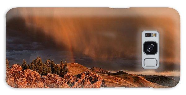 Mountain Sunset Galaxy S8 Case - Mountain Drama by Leland D Howard