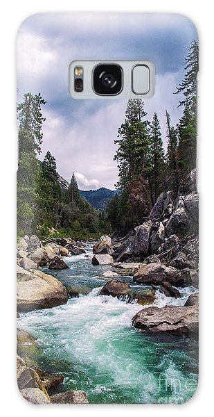 Mountain Emerald River Photography Print Galaxy Case by Jerry Cowart