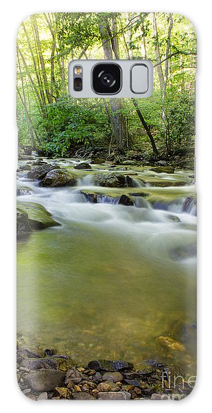 Mountain Flow Galaxy Case by Laurinda Bowling