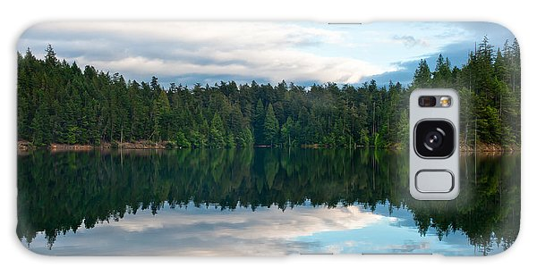 Mountain Lake Reflection Galaxy Case by Crystal Hoeveler