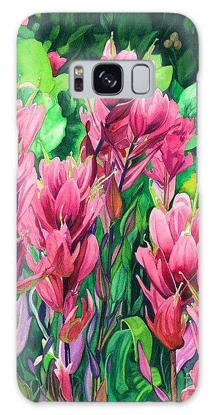 Mountain Meadows' Paintbrush Galaxy Case by Barbara Jewell