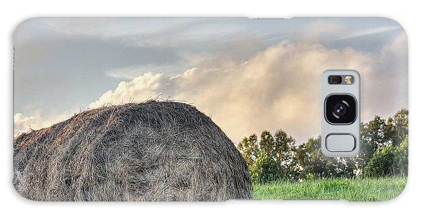 Mountain Pasture Hay Bale Galaxy Case