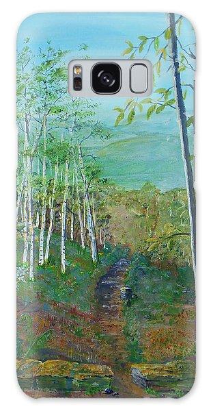 Mountain Path Galaxy Case by Christine Lathrop