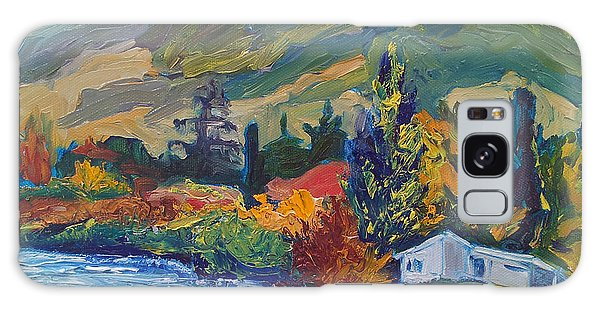 Mountain Painting Oil Landscape Ekaterina Chernova Galaxy Case