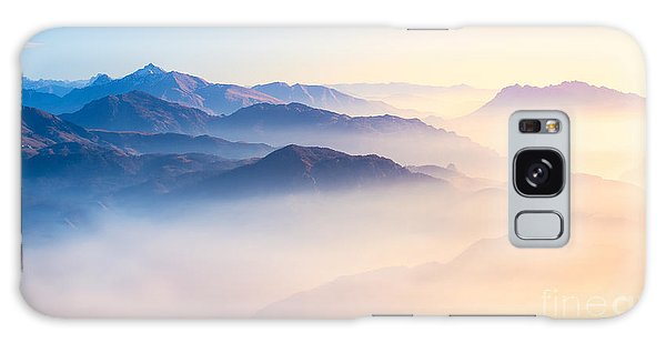 Environments Galaxy Case - Mountain Range With Visible Silhouettes by Easy Camera