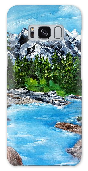 Mountain Stream  Galaxy Case by Ellen Canfield