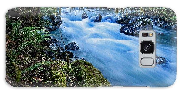 Mountain Stream In Forest - Nooksack River Washington Galaxy Case by Valerie Garner