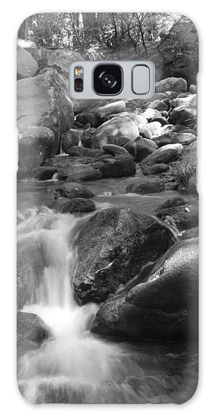 Mountain Stream Monochrome Galaxy Case by Larry Bohlin